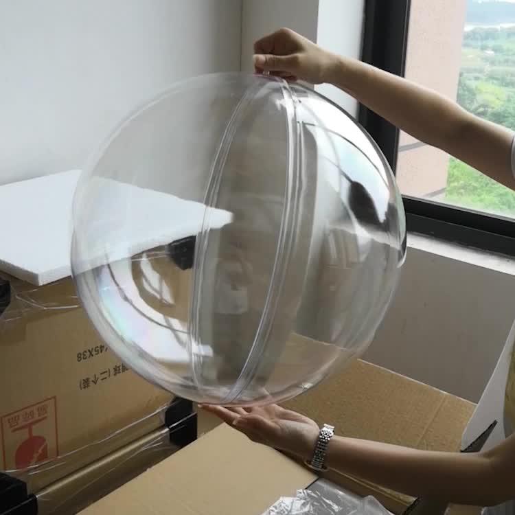 Tamanho grande Rodada Oco Openable limpar Plástico Transparente Bolas De Natal 25 cm, 30 cm, 35 cm, 40cm