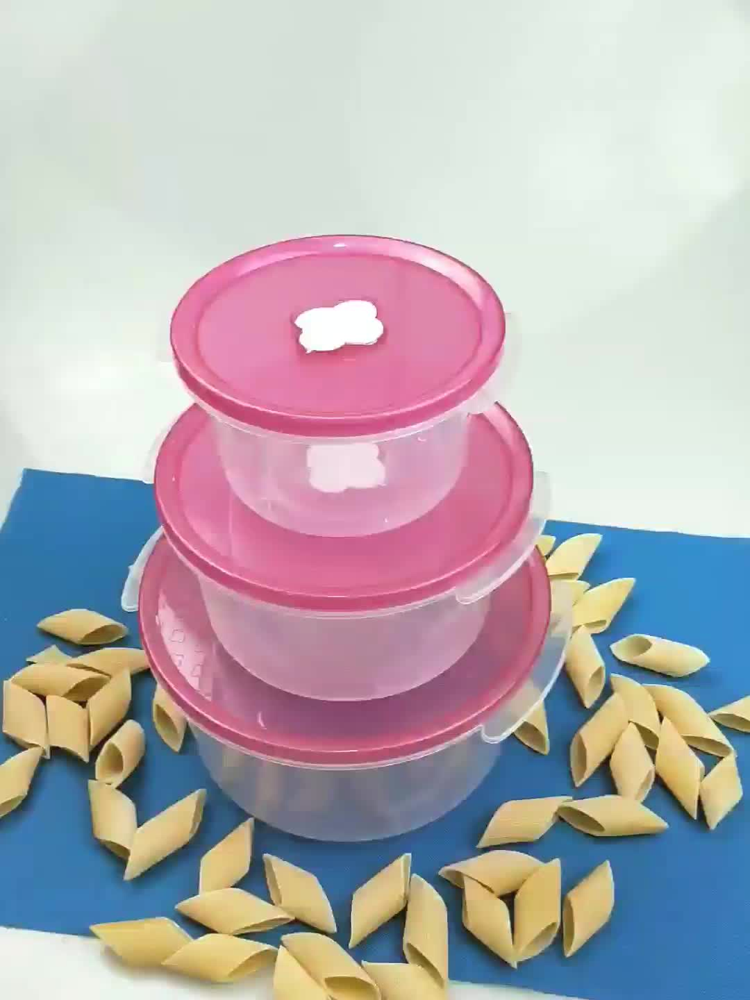 600/1200/2200ml airtight food storage container plastic with fresh keep