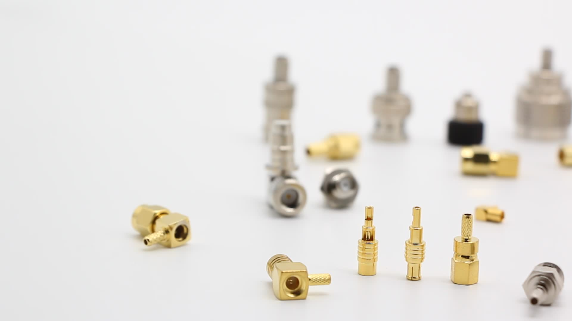 SMA MCX Coaxial Connector  for Semi-flexible Cable