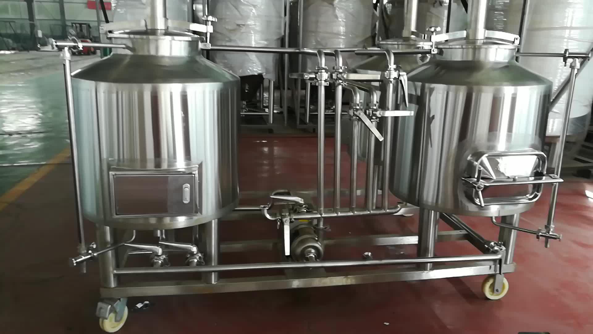 100L Beer Storage Stainless Steel Fermenter  Beer Tank Used
