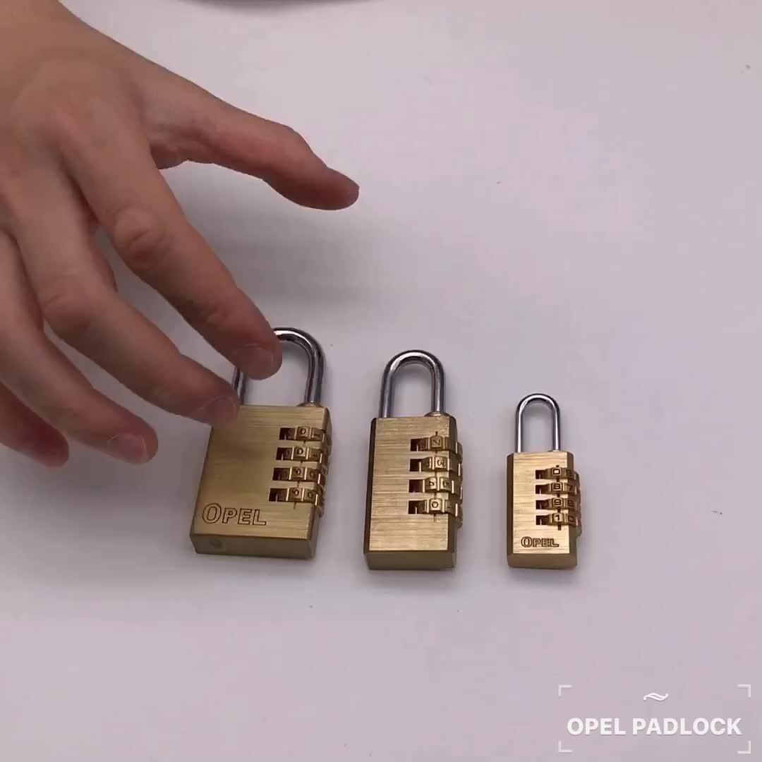 3/4 Dígitos Cadeado da Combinação de Bronze para a bagagem, Ginásio e mala bloqueio Ginásio