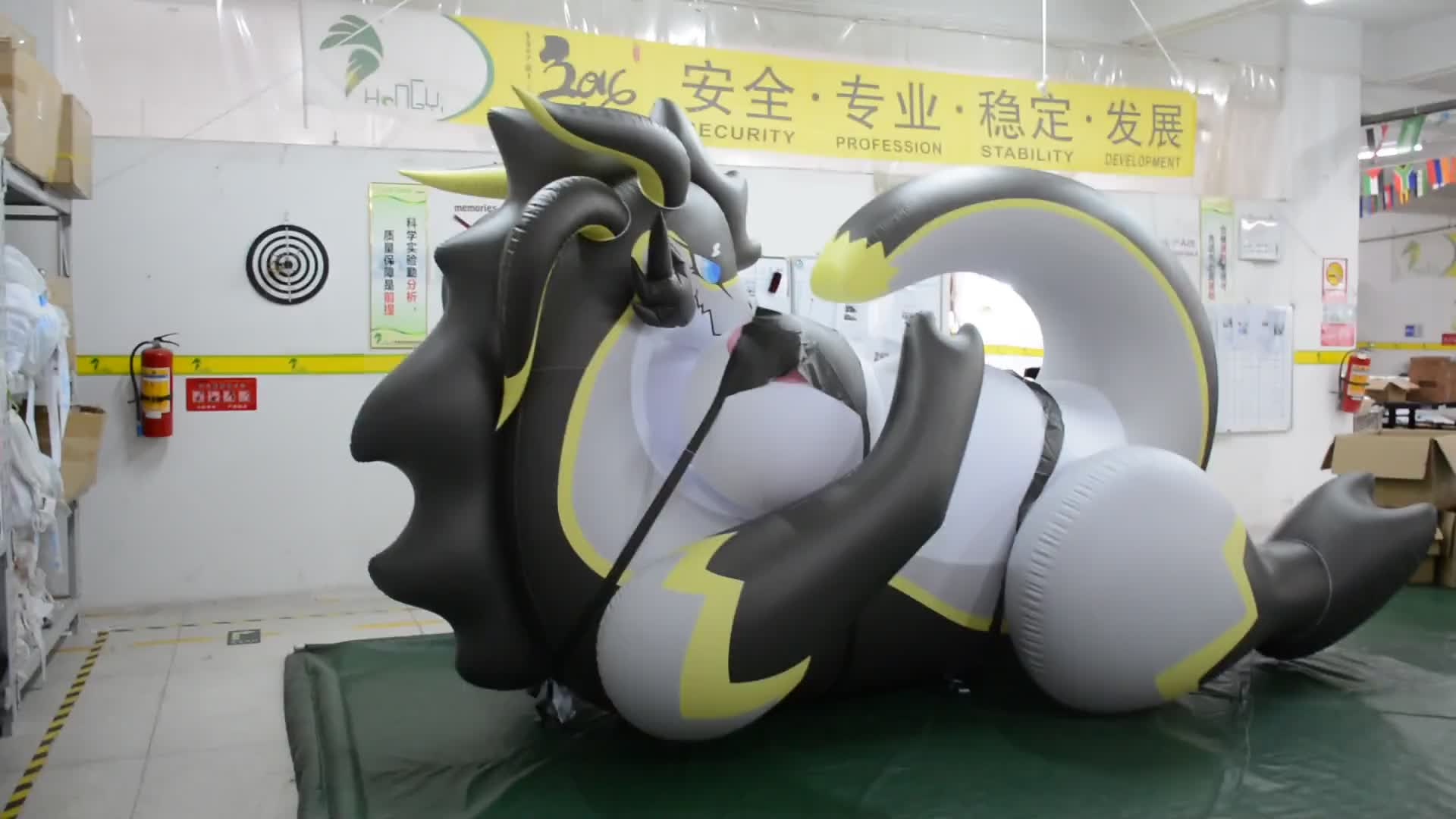 Hongyi Inflatable Sexy Animal Toys / Inflatable Laying Dragon Inflatable Goodra / Inflatable Animal With SPH