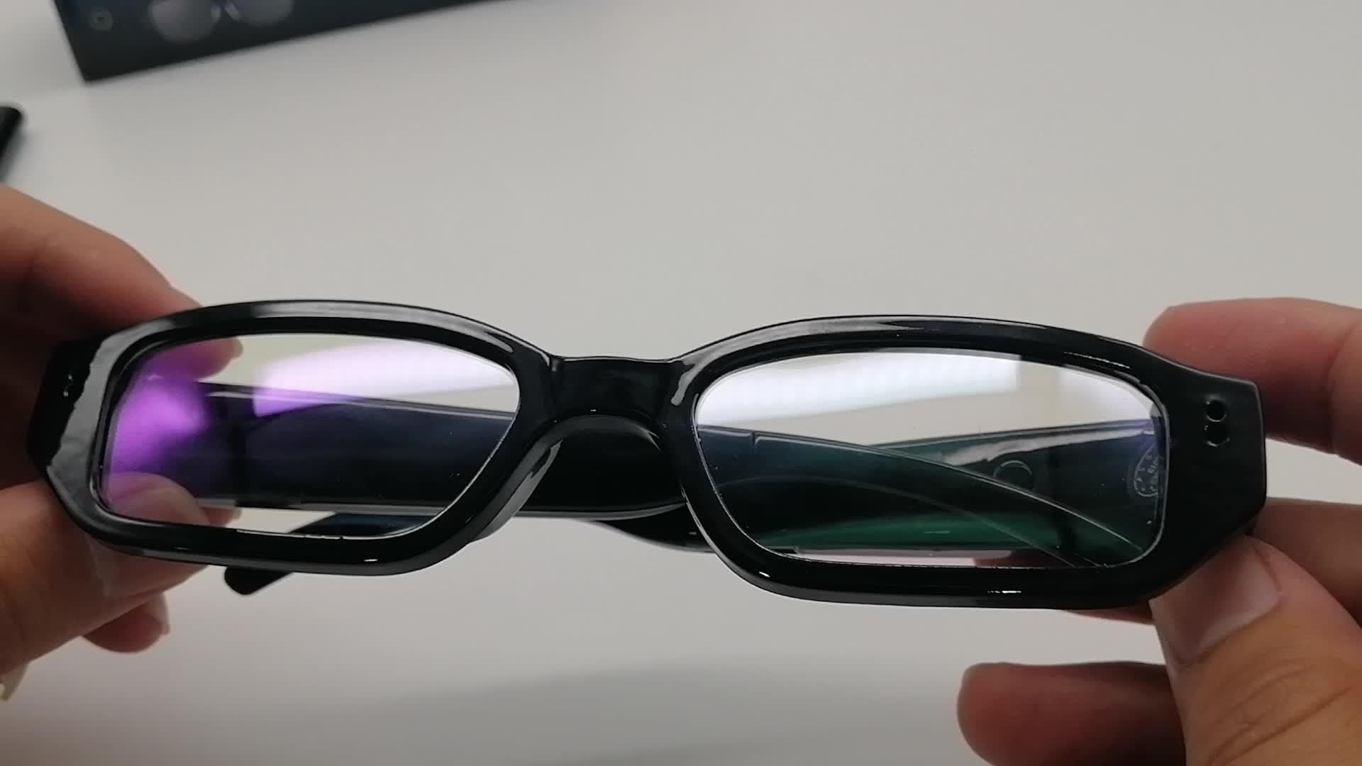 HD 1080P Mini Kablosuz Taşınabilir Göz Gözlük Casus Gizli Video Kamera