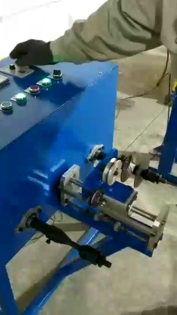 QIPANG small wire spooling machine Flat belt spool rewinding machine with counter meter