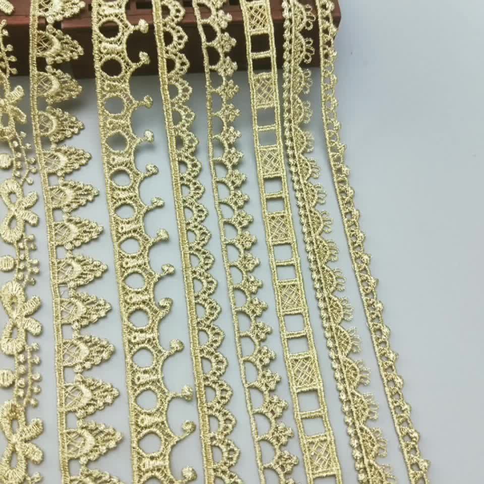 Wholesale Elegant Polyester Embroidery Lace Trim