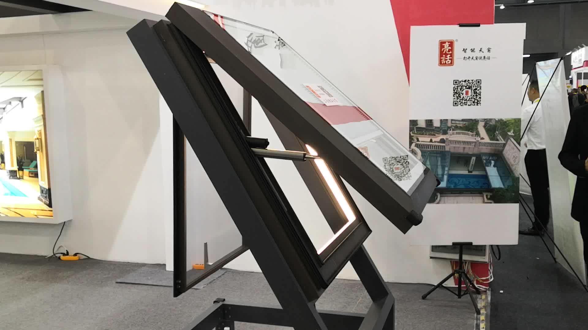 Лидер продаж горячие китайские продукты коричневый цвет алюминий светодиодные фонари автоматические качели открытым жалюзи подвал