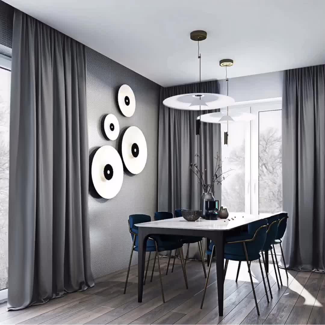 Simple apagón cortinas para la sala de listo de panel