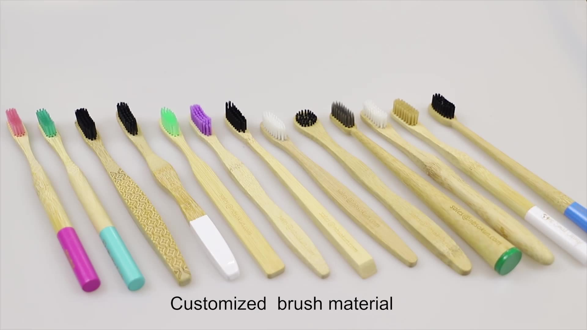 CE Approved Eco- friendly Charcoal Bristles OEM Bamboo Toothbrush with Customized Packing and Logo
