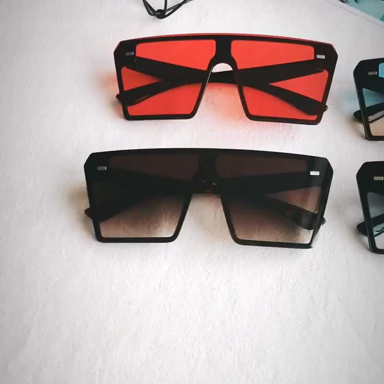 Custom high quality women big frame oversized square sunglasses