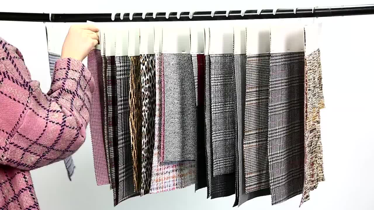 Thermische 98 polyester 2 spandex multi farbe einseitig jacquard stepp jacke stoff