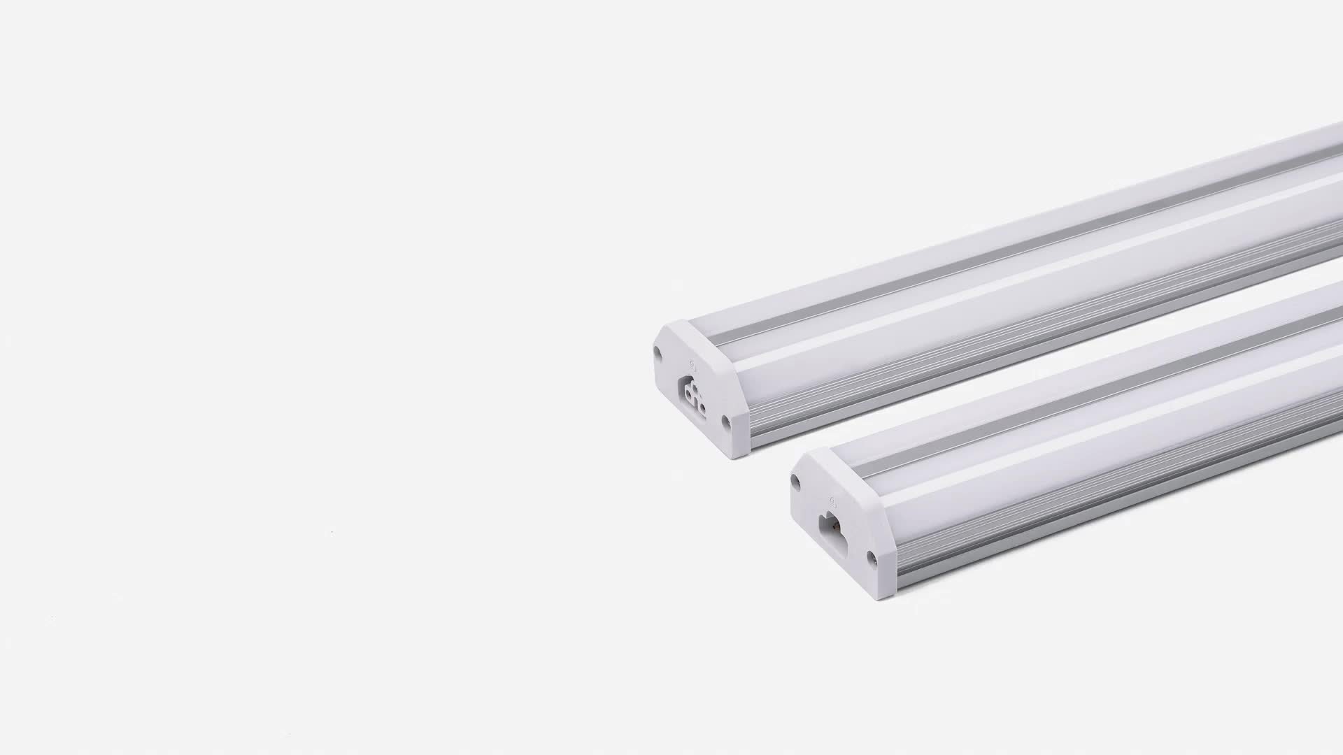 microwave sensor led tube lighting Double Tubes with Dimmable/CCT adjust/on off switch 3000-6500K white for shop office fixture