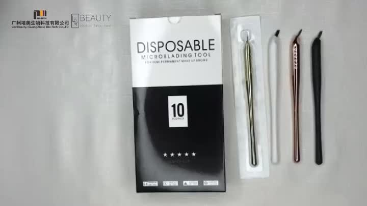 Light Gold Ergonomic design disposable microblading pen tools for Microblading Academy  Private Labeling