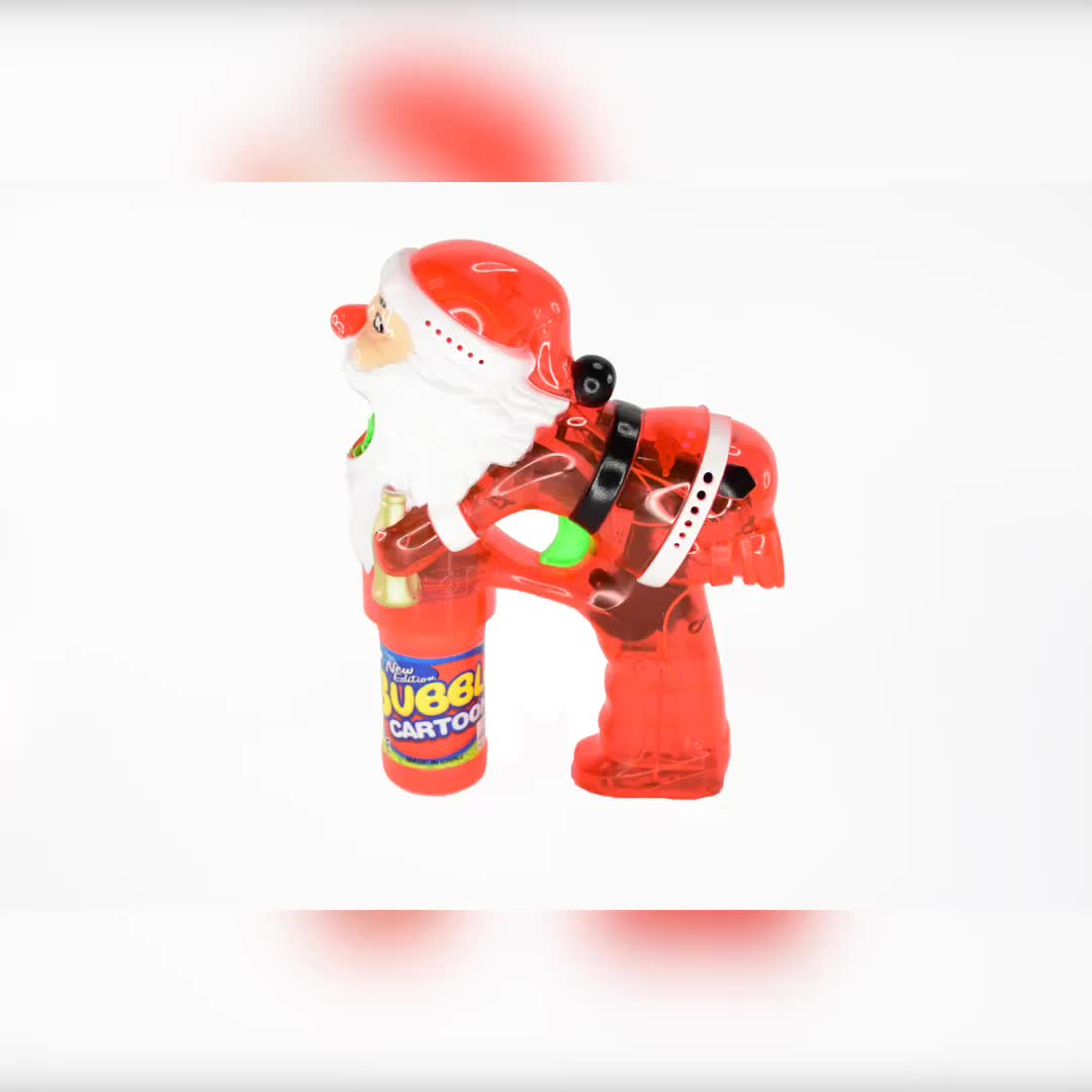 Wholesale Electric Gun Led Flashing Lights Christmas Soap Bubble Gun For Kids