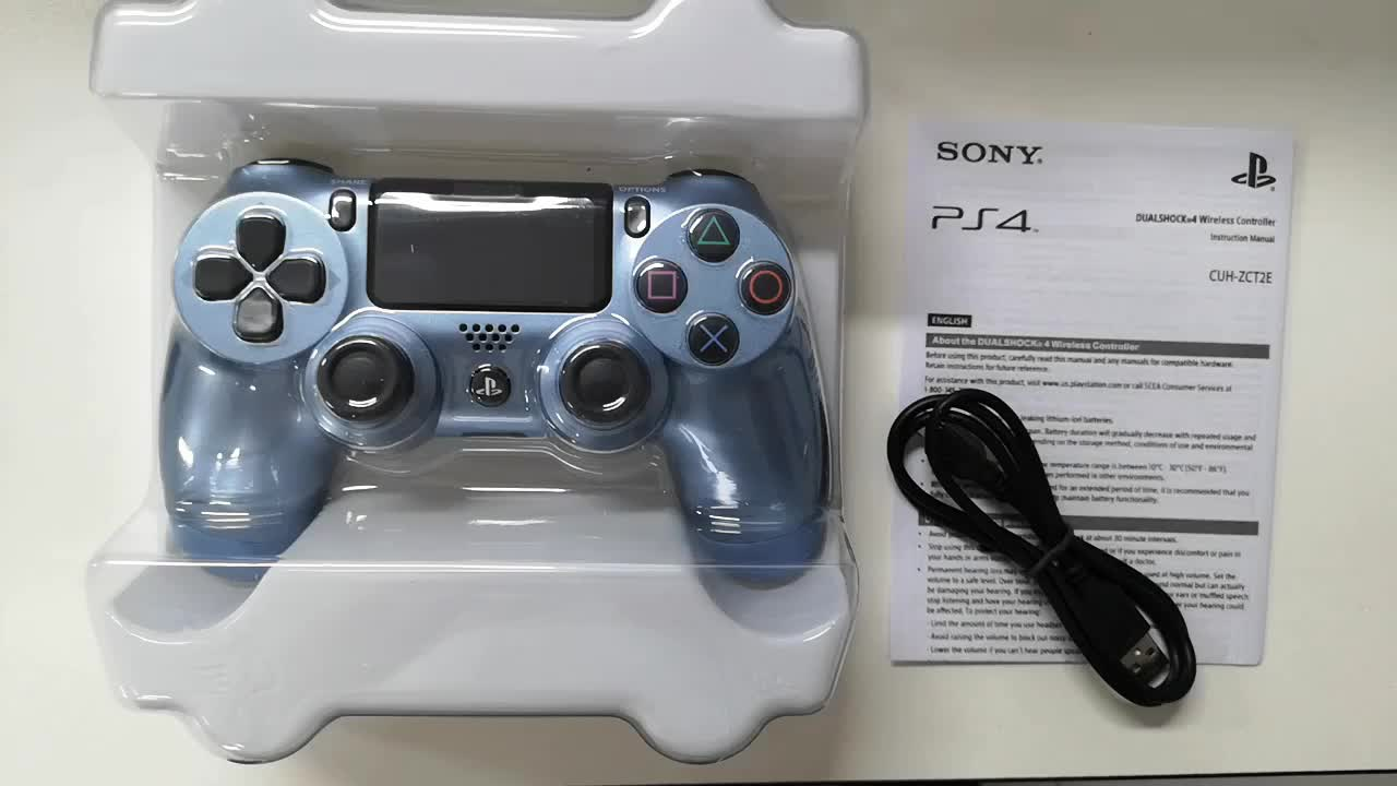 New  PS4 Gamepad For PS4 Wireless Controller For DualShock 4 Controller-Titanium Blue