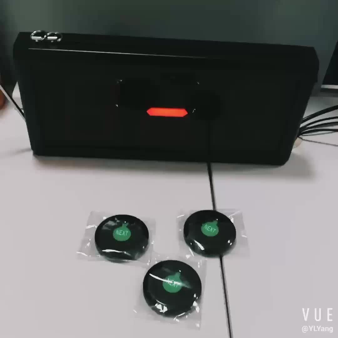3-Digit Big Screen Wireless Waiter Call Button Queue Number Machine Ticket Desk Column Dispenser