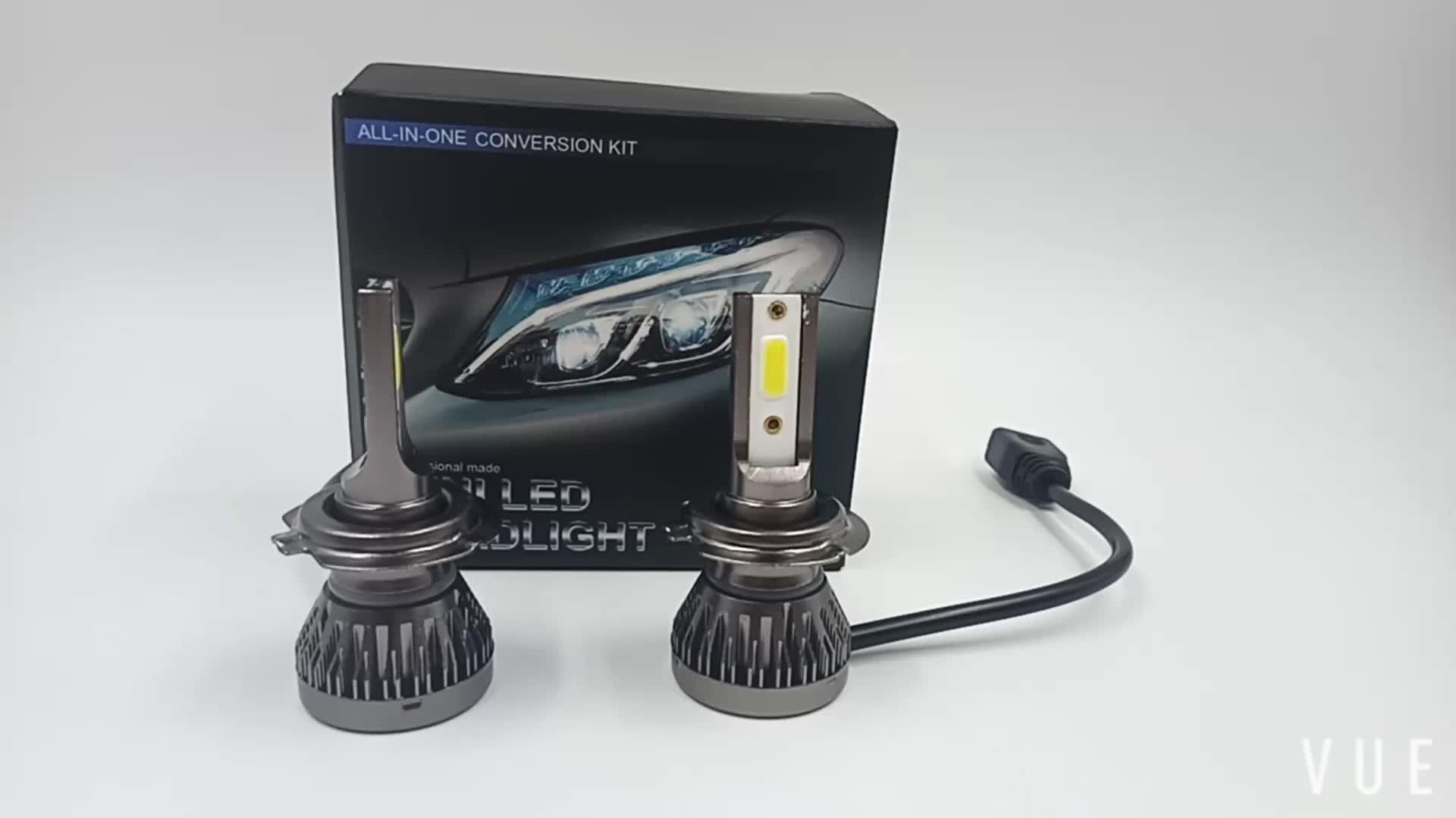 M1 40W 8000LM COB LED headlight bulb Car Auto DRL fog lights lamps H1 H3 H7 H8 H9 H10 H11 9005 9006 LED headlight
