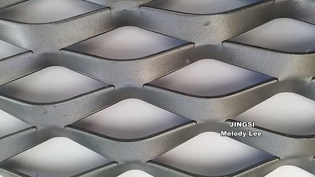 רשת מתכת אלומיניום עם L בצורת מסגרת