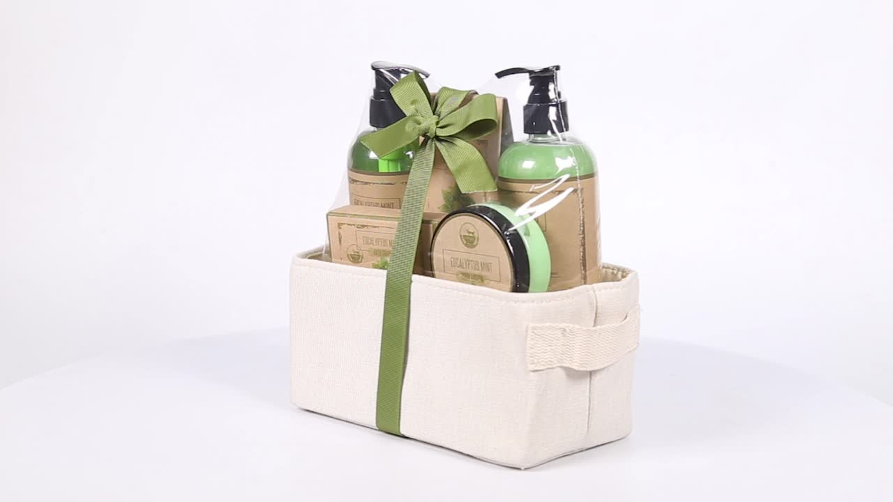 Travel Use Linen Packaging Skin Care Bath Gift Sets for Women