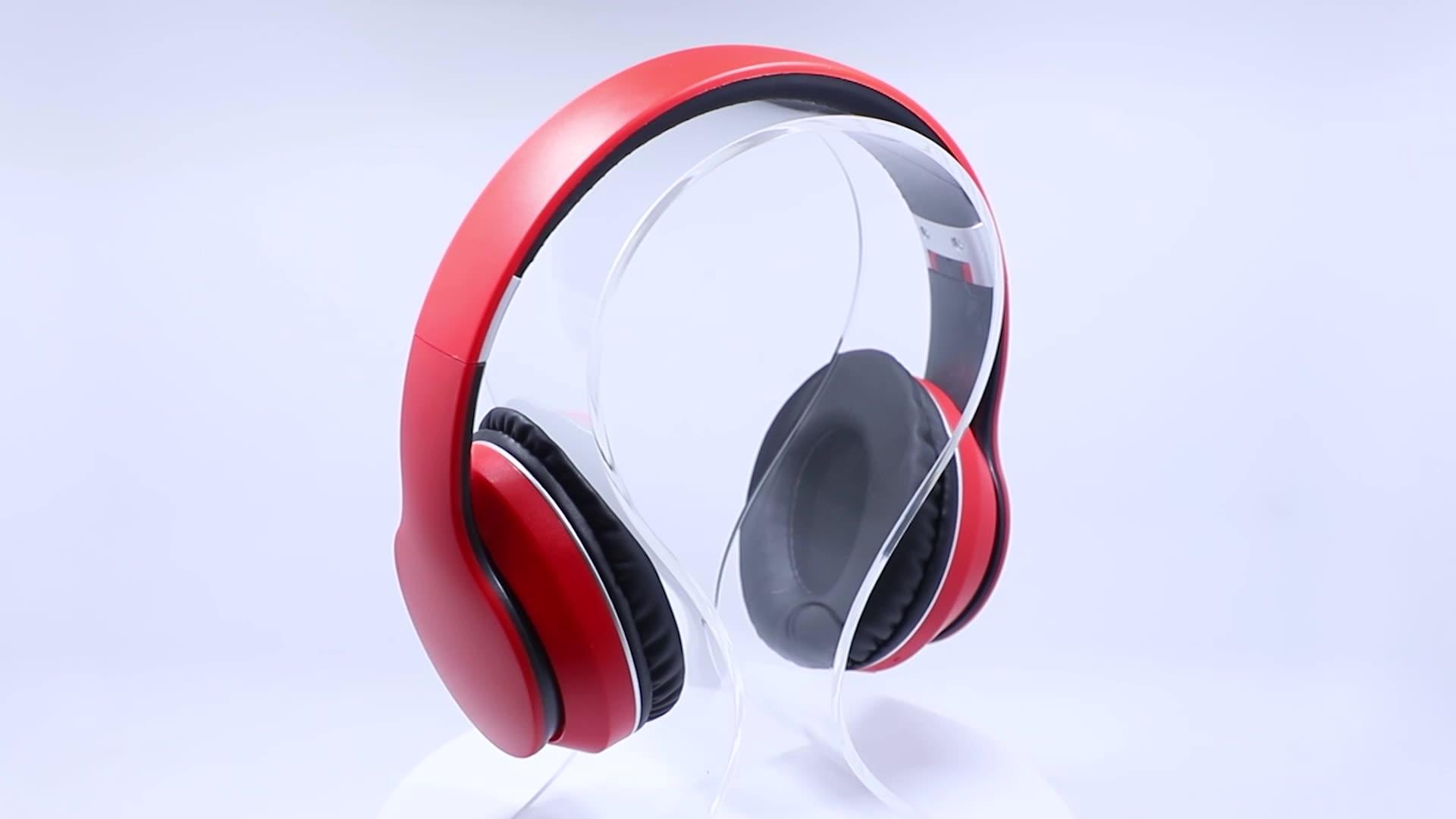Wholesale OEM foldable earphones wireless headphone earphone with Customized packaging