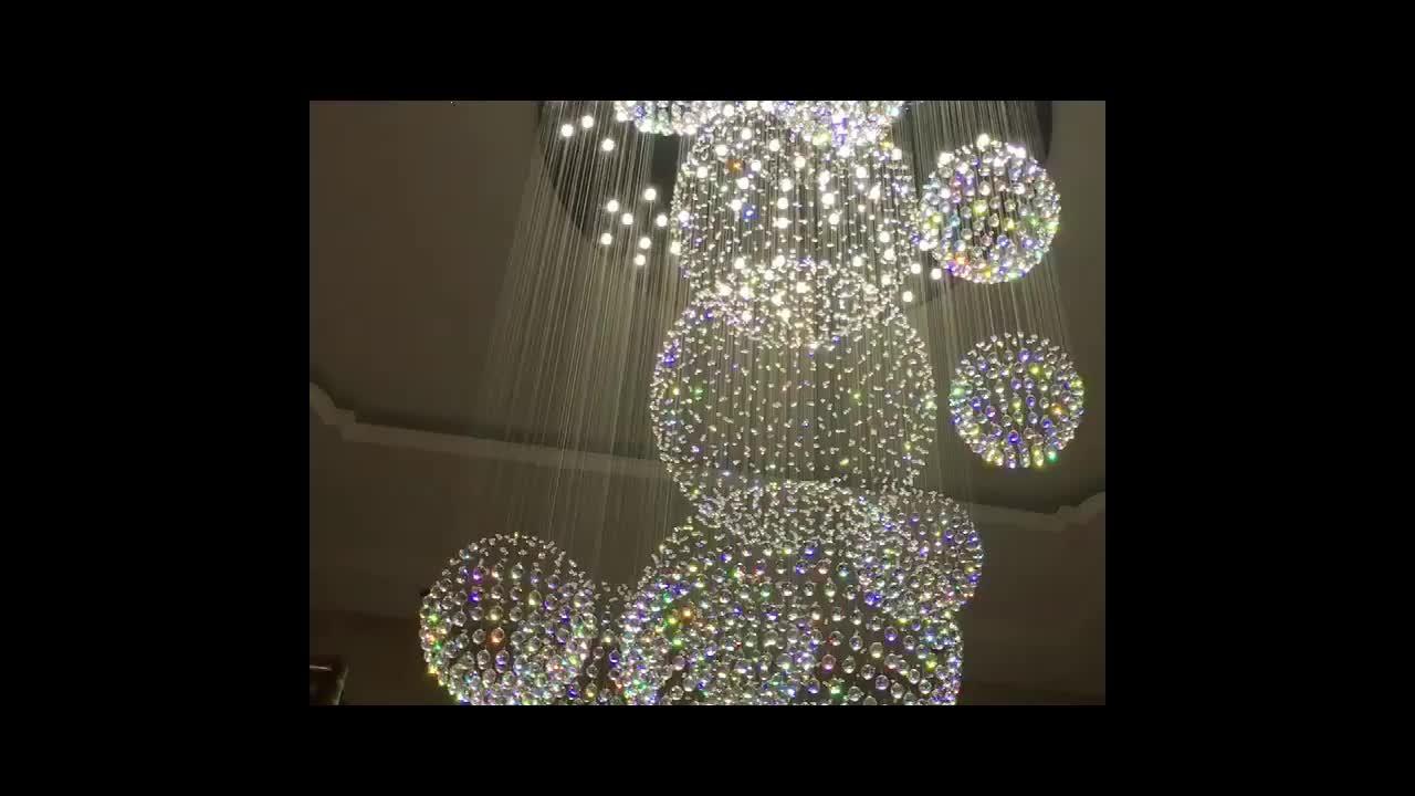 艺术造型个性图案水晶吸顶灯 玫瑰花云朵祥云水晶灯非标工程定制