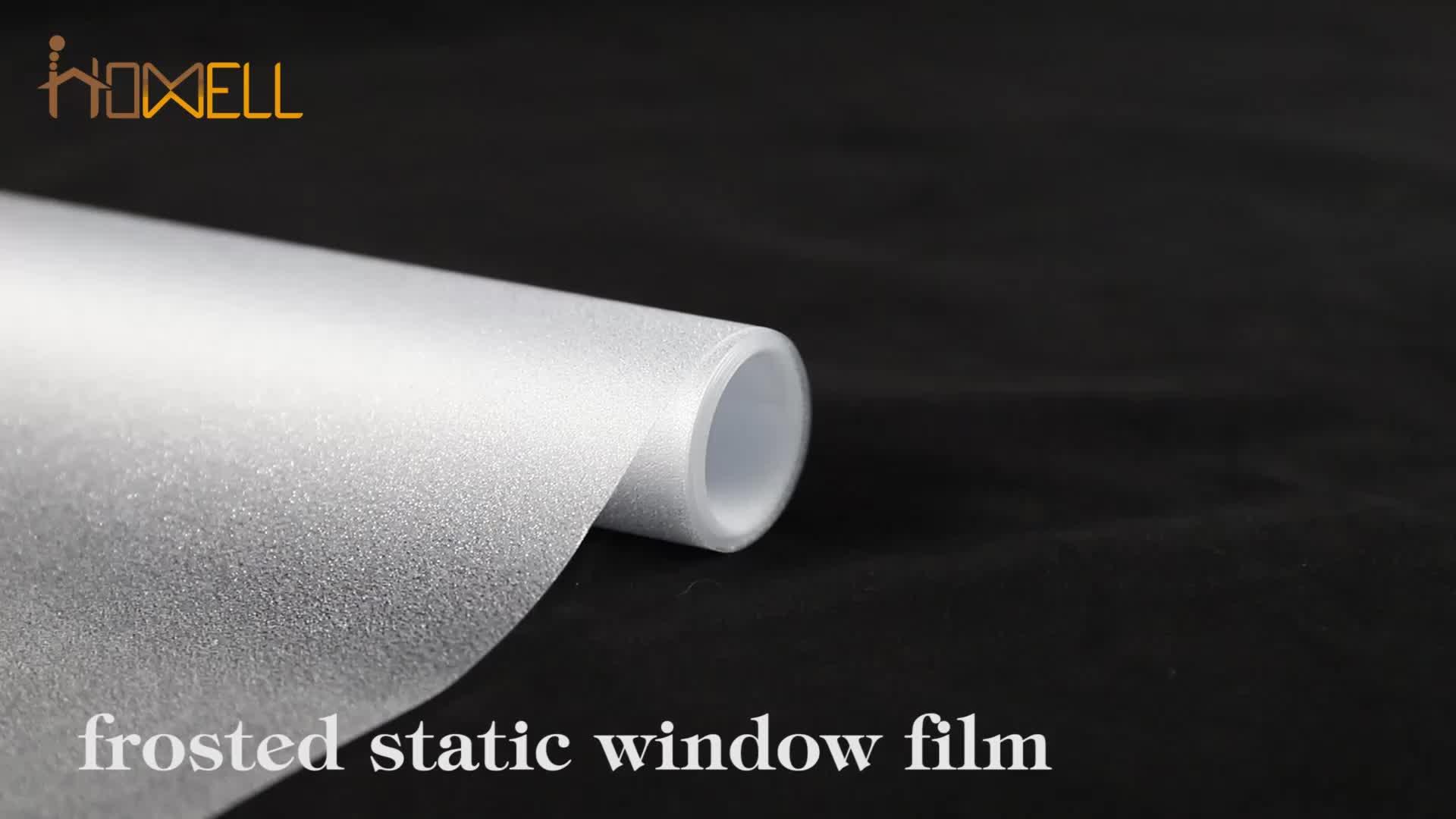 Transparente fosco filme janela de pvc auto adesivo