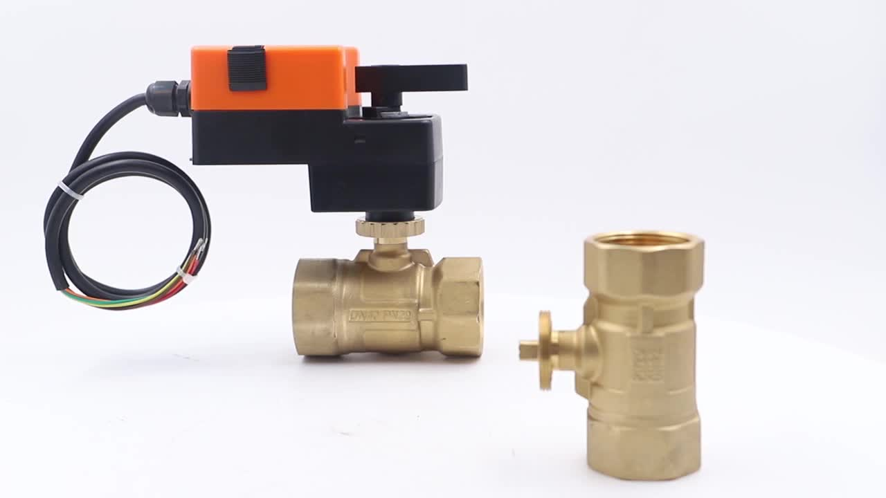 WVA4-104 220V 2 Way DN20 Motorized Control Ball Valve Water Flow Electric Actuator Ball Valve