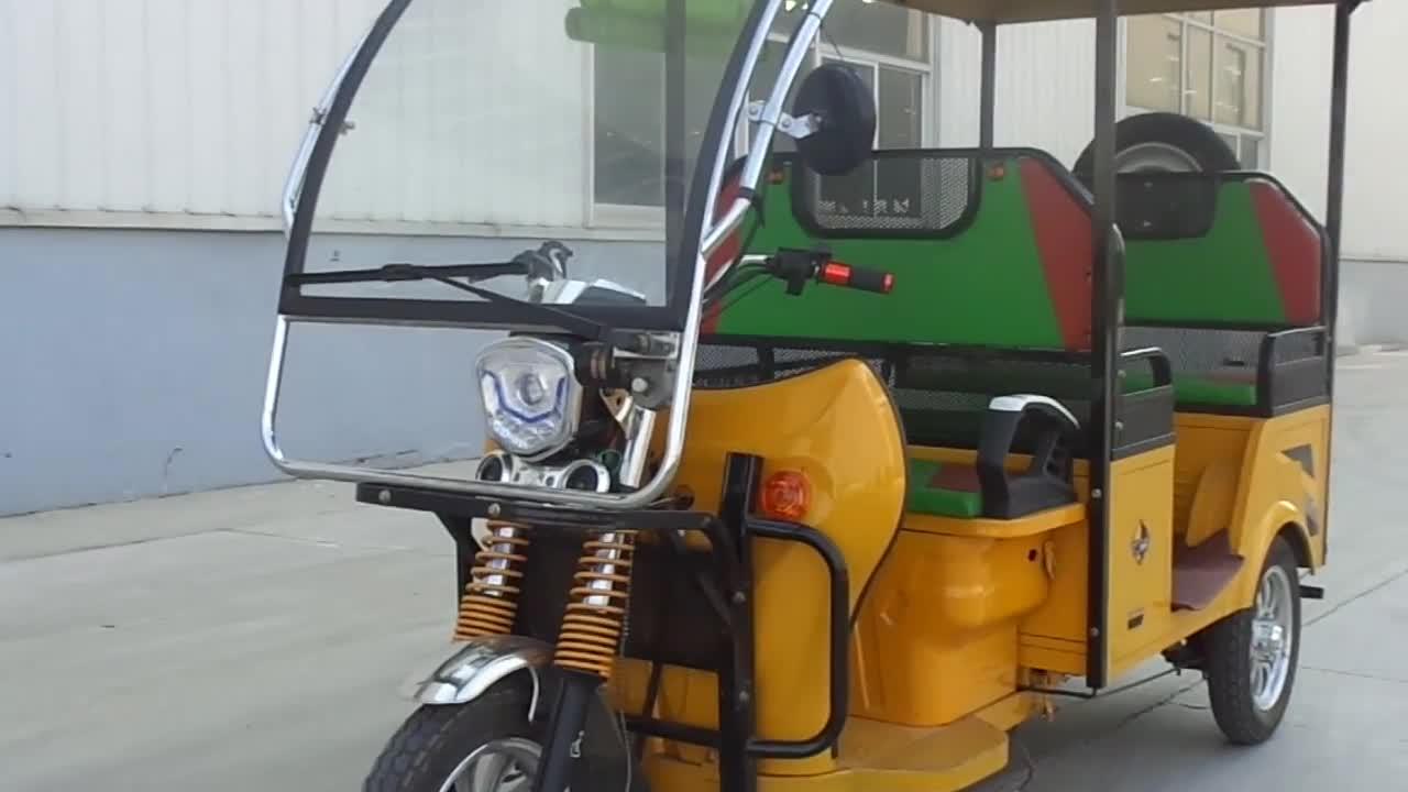 Le plus récent tricycle électrique fermé de luxe pour passager taxi auto pousse-pousse prix en inde