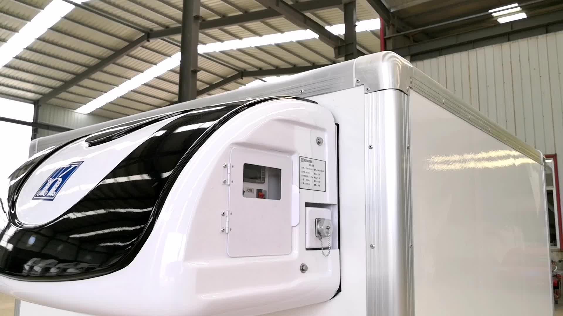ColdKing 220-230 V 1 phase AC powered ATV/UTV anhänger reefer kühlraum lkw körper box kälte einheit für lkw und anhänger