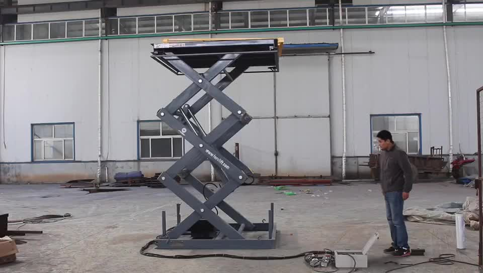 CE approved 5m lifting height hydraulic stationary scissor lift platform
