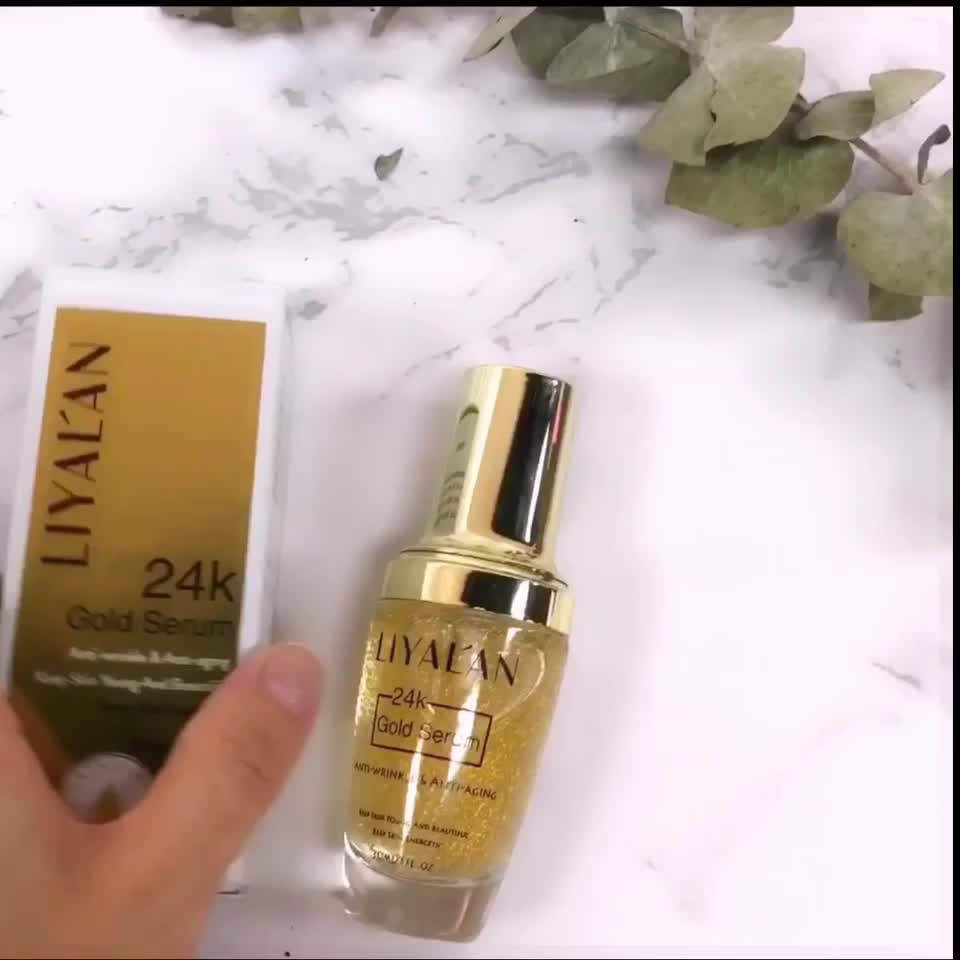 GMP certificate private label face serum 30ml 24k gold serum