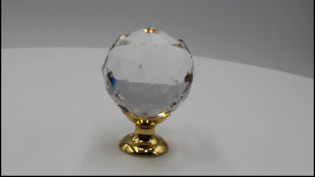 Moda K9 Diamante De Cristal De Vidro Puxadores Para Móveis Hardware Gaveta Wardrobe Armários de Cozinha Armário Puxe Maçanetas Atacado