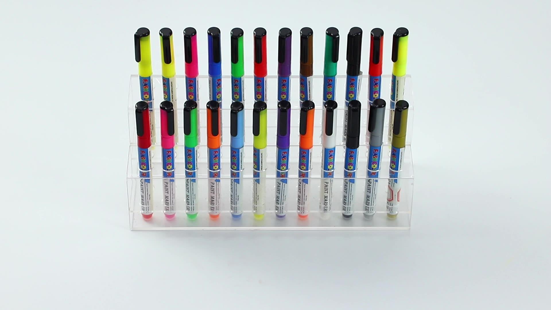 3mm alkol bazlı işaretleme kalemleri kalıcı boya kalemi ayakkabı