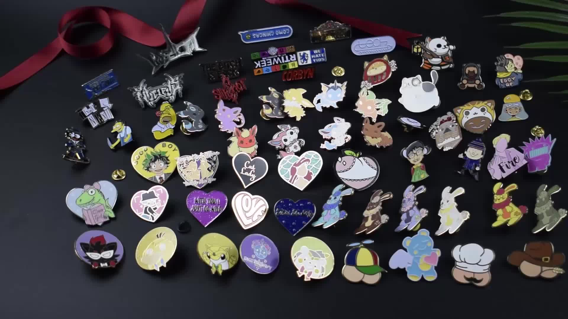 Custom Any Shape Hard Enamel Pins Metal Soft Enamel Pin Colorful Cartoon Badge