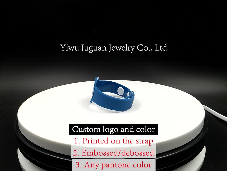 โรงงานส่งเสริมการขายของขวัญ UV สร้อยข้อมือยาง PVC UV Sensor เครื่องตรวจจับรังสี UV สายรัดข้อมือเด็กแจกของรางวัล JGWB0009