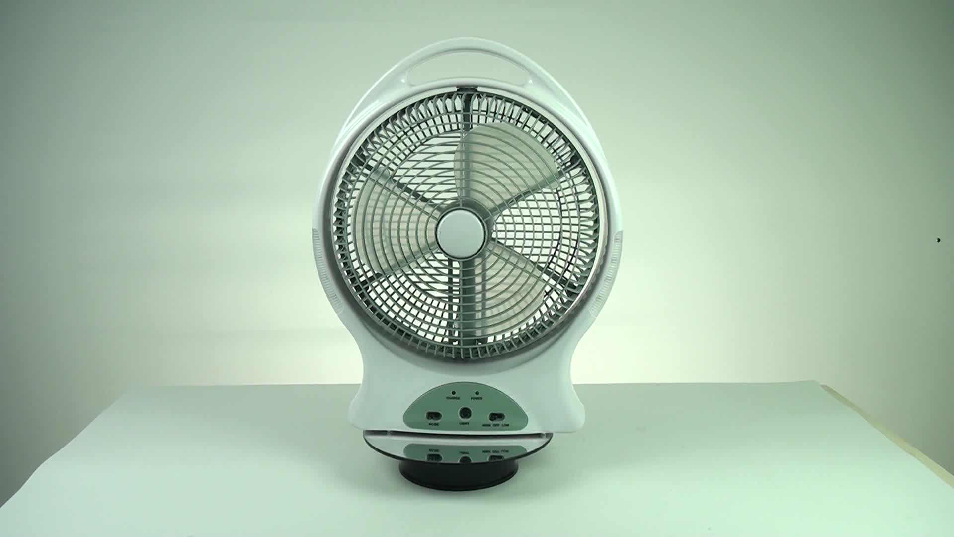 12inch AC/DC desk solar fan with led for home use
