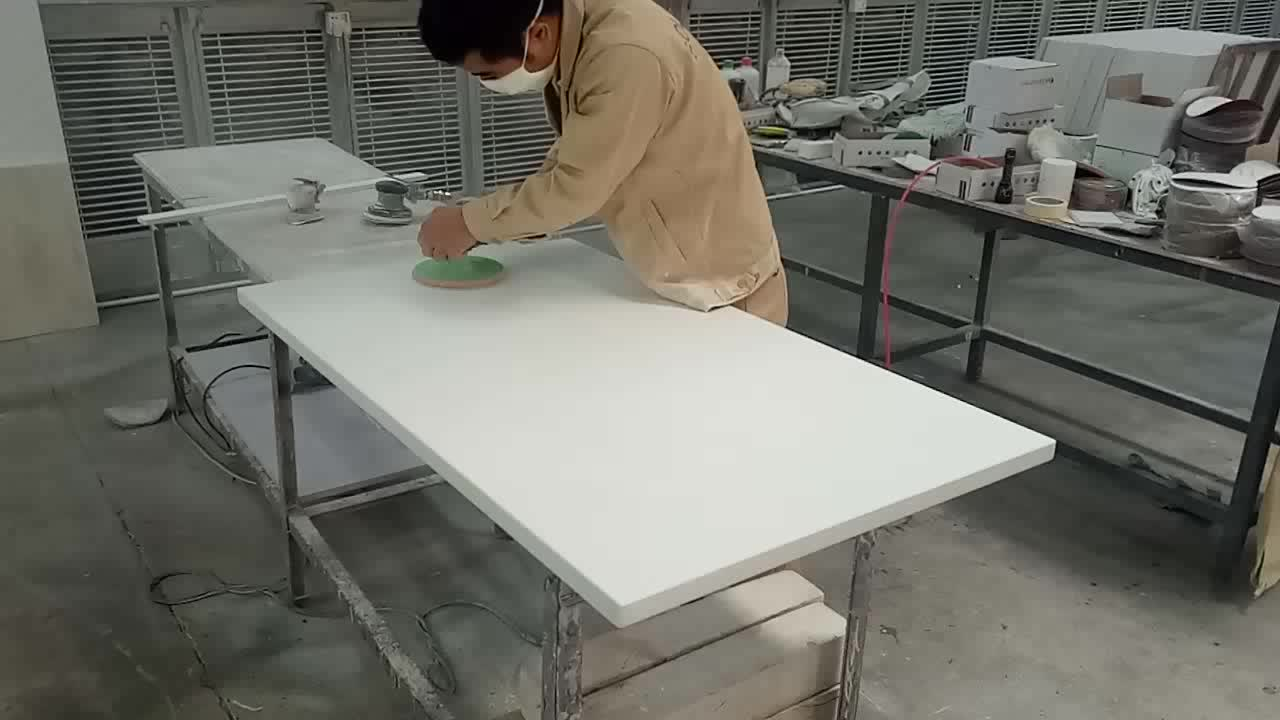 customized made acrylic resin stone cafe dining table
