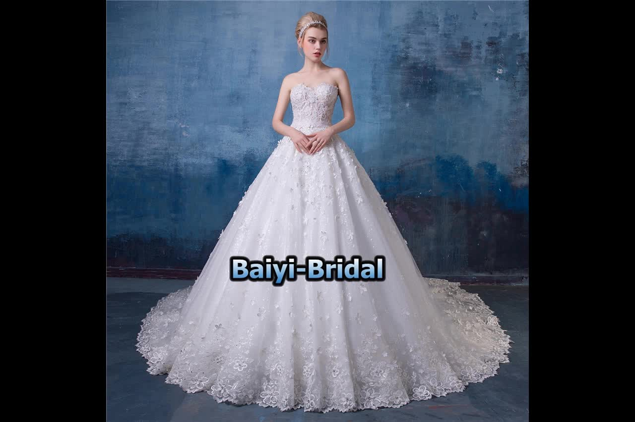 Beaded Embroidered Strapless Wedding Dress Bridal Gown 2017 Ha570 ...