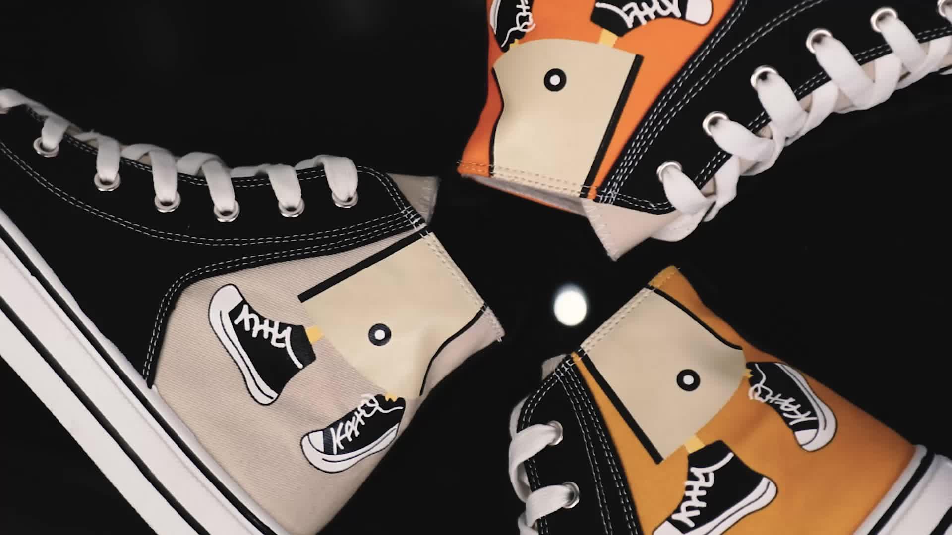 جين هونغ المطبوعة المطاط وحيد التنفس أزياء من الدانتل يصل حذاء رياضة شقة عارضة الرجال قماش أحذية