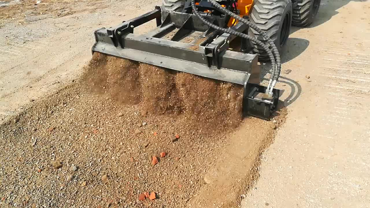 Bobcat attachments hydraulic harley power rake for skid steer wheel loader