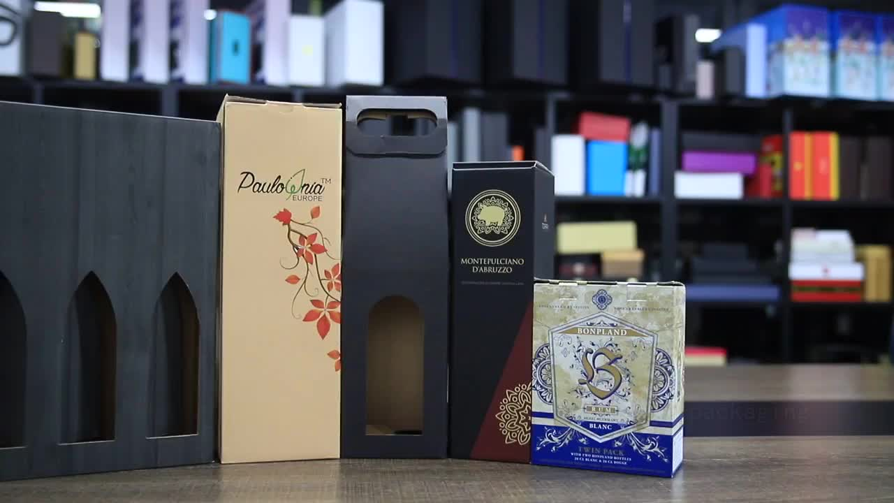 Luxury offset print festival wine package gift paper box