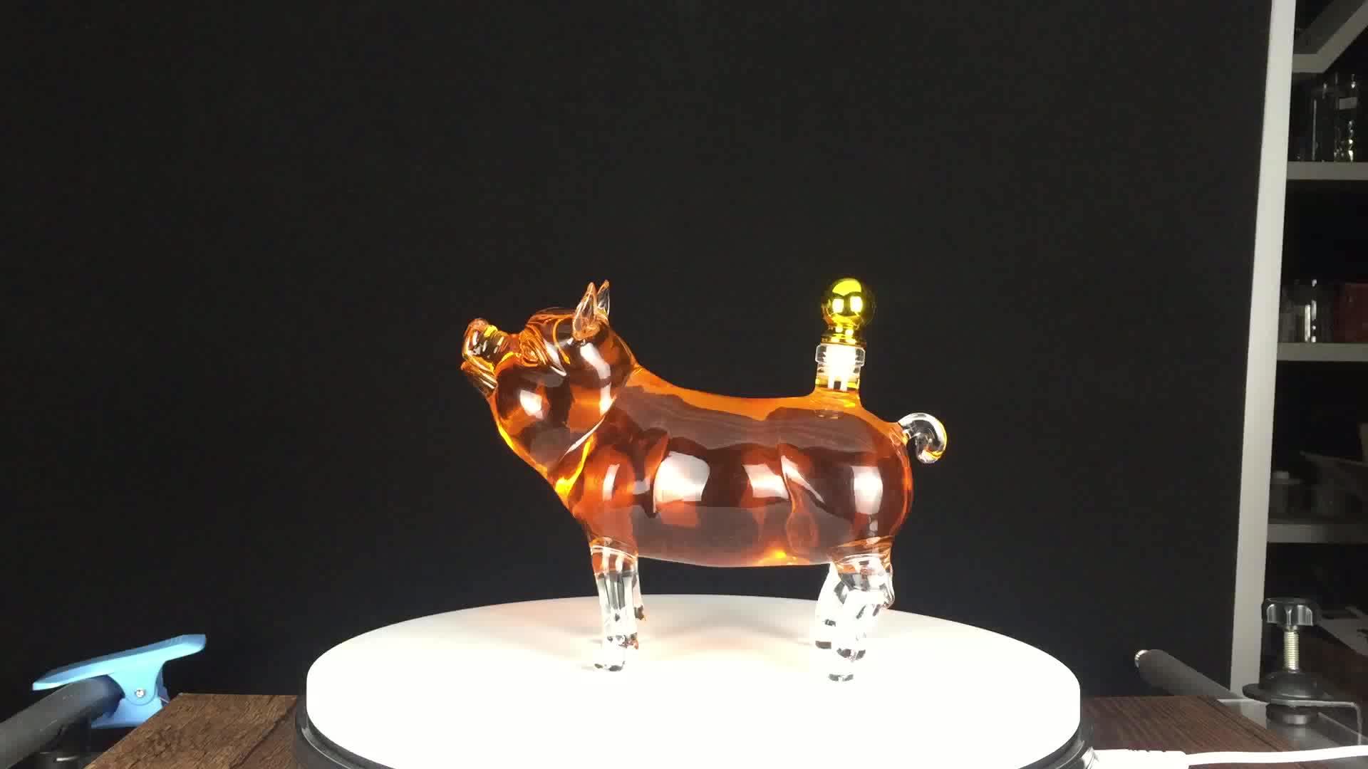 Fancy Hot Hand Blown 100ml  Chinese Zodiac 12 Animals Mini Glass Bottle