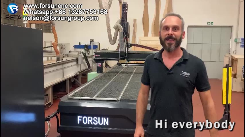 FORSUN 9KW ATC  spindle  High speed Autometic changer wood CNC Router Machine with rotary