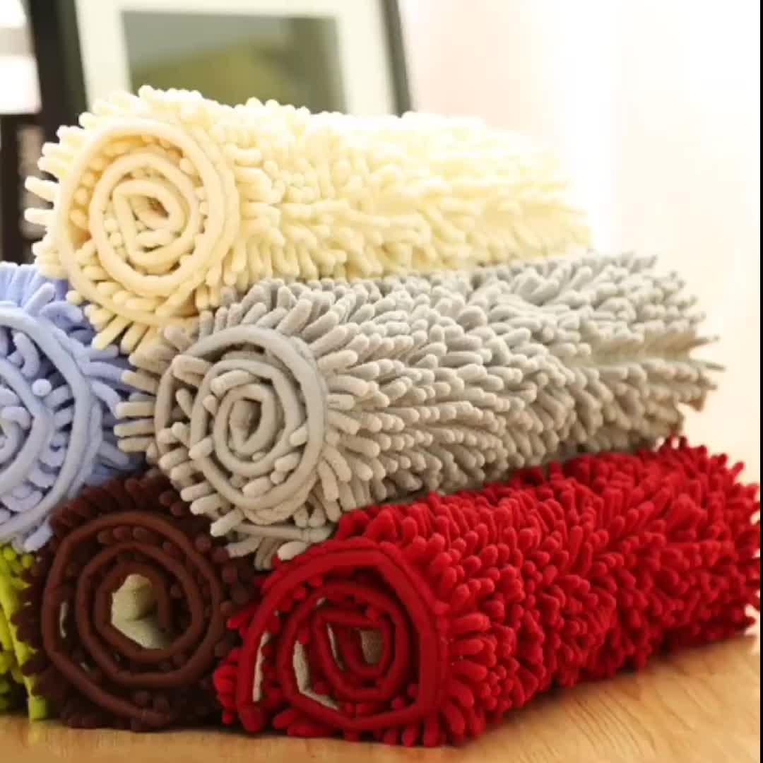 De chenilla de microfibra alfombras de piso alfombra cojín estera de baño