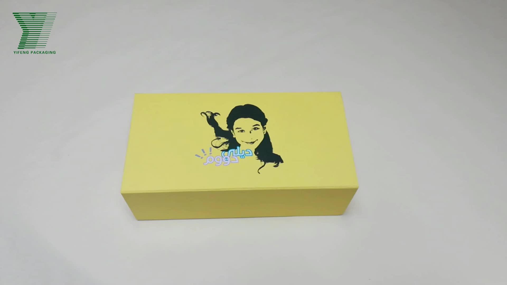 Magnetic Folding Custom Printed Cardboard Paper Shoe Packaging Gift Box