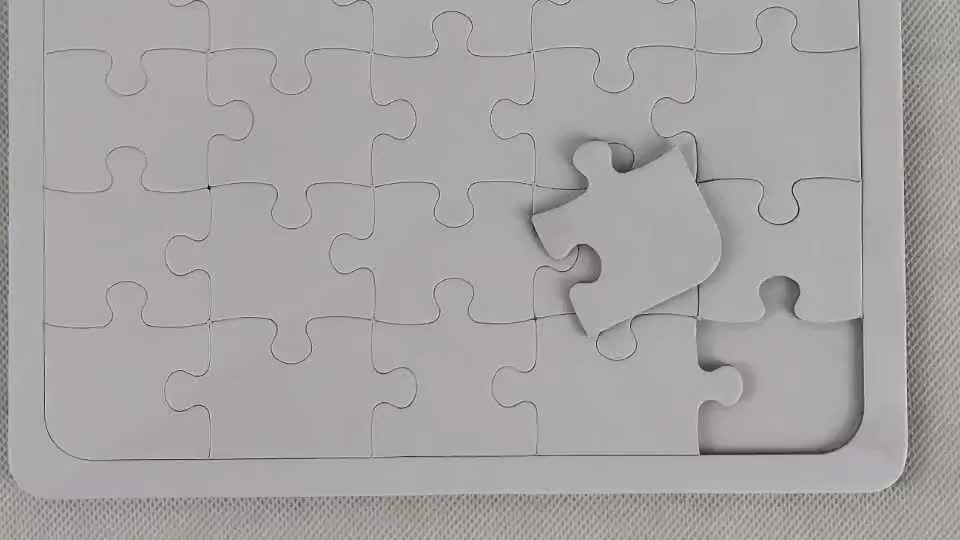 A5 Custom Paper Sublimation Blank Printable Jigsaw Puzzle 20pcs