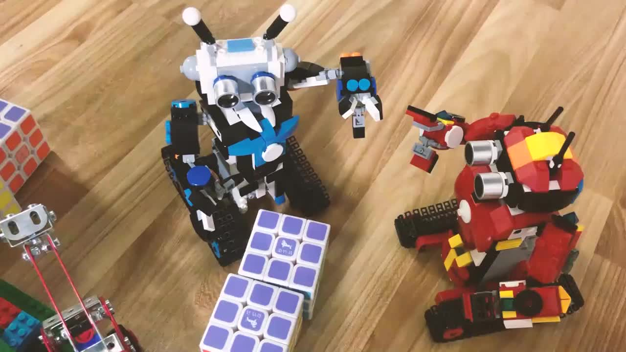 HOSHI Programma Intelligente Robot Educativi RC Robot Block Set Intelligenti di Controllo Remoto Modello di Robot Mattoni Da Costruzione Giocattoli Per Il Capretto