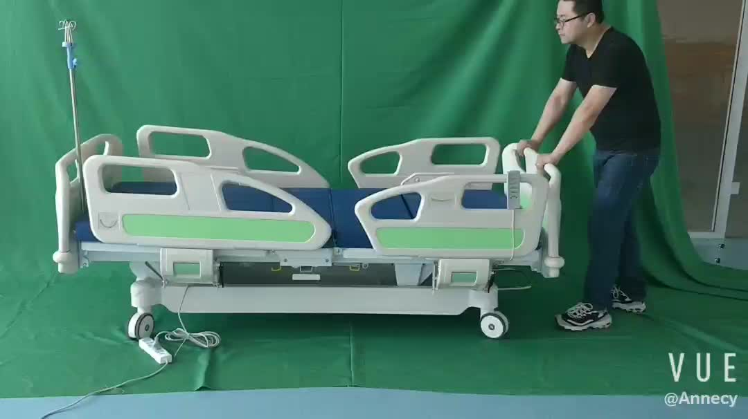 AC-EB005 hospital equipment luxurious new design multi function electric hospital bed price
