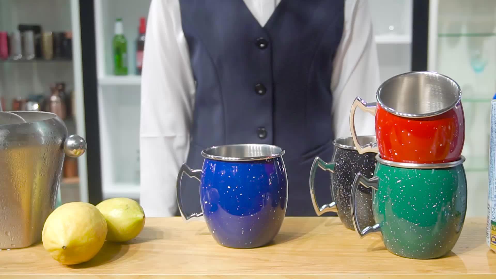 Heißer verkauf bar zubehör edelstahl bier tasse custom design becher