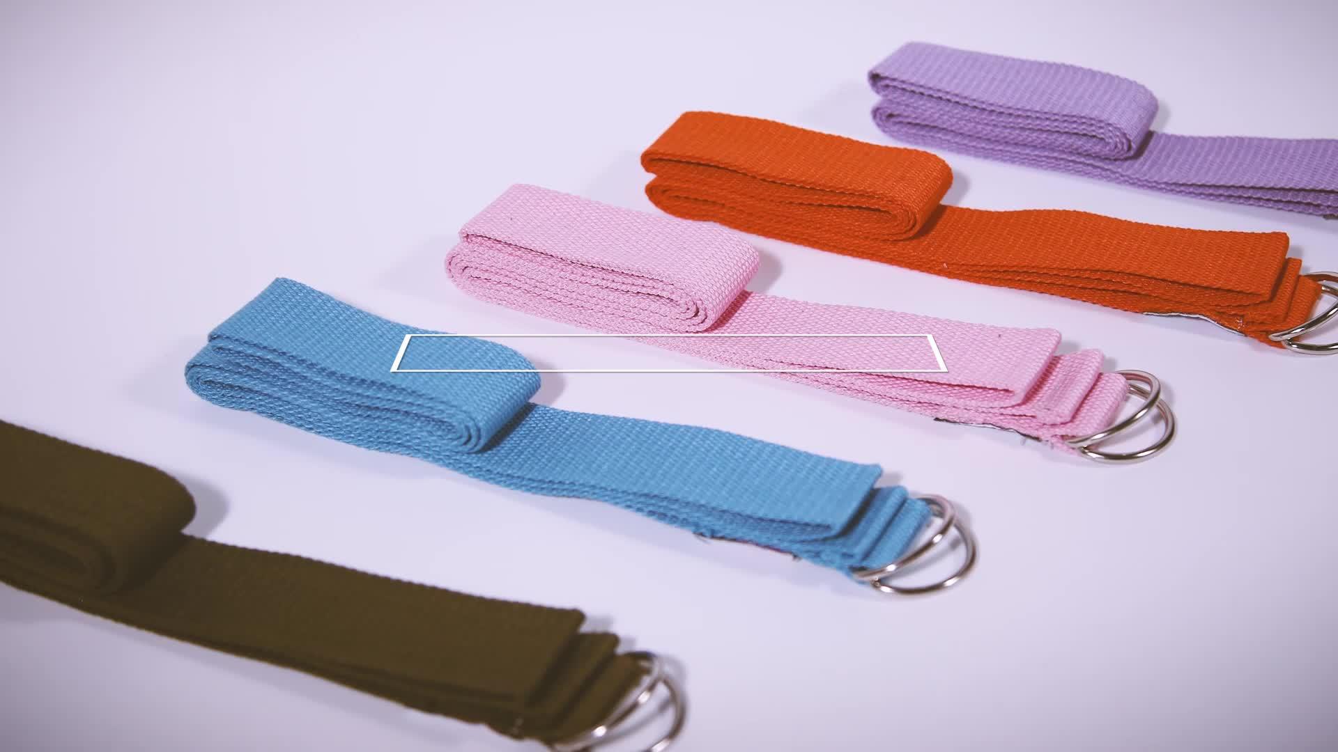 Hoge kwaliteit kleurrijke katoen stretching yoga band met private label