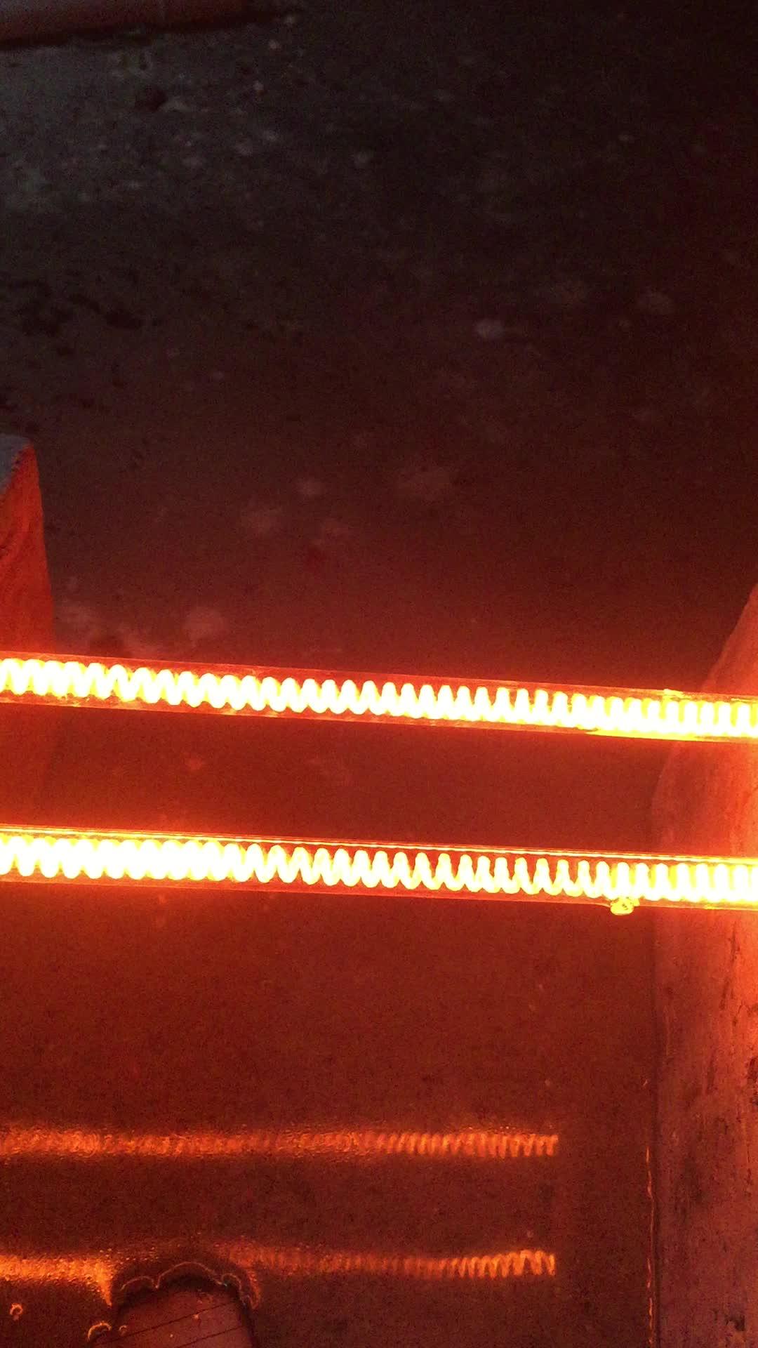 Subtransparent Electric Infrared Quartz Heater Tube 400W